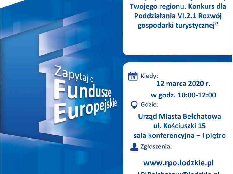 Turystyka szansą na rozwój regionu ‒ spotkanie informacyjne