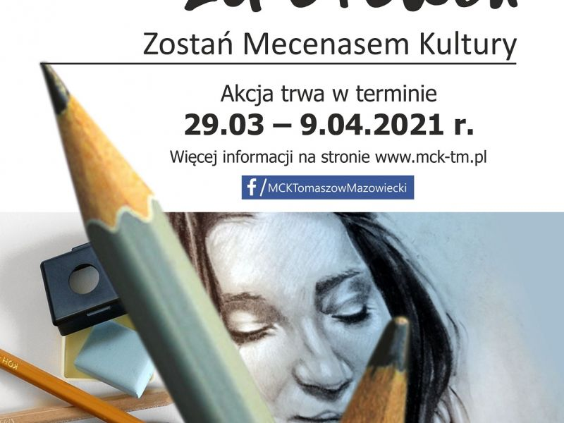 Plakat akcji Portret za ołówek - akcja portretowa MCK