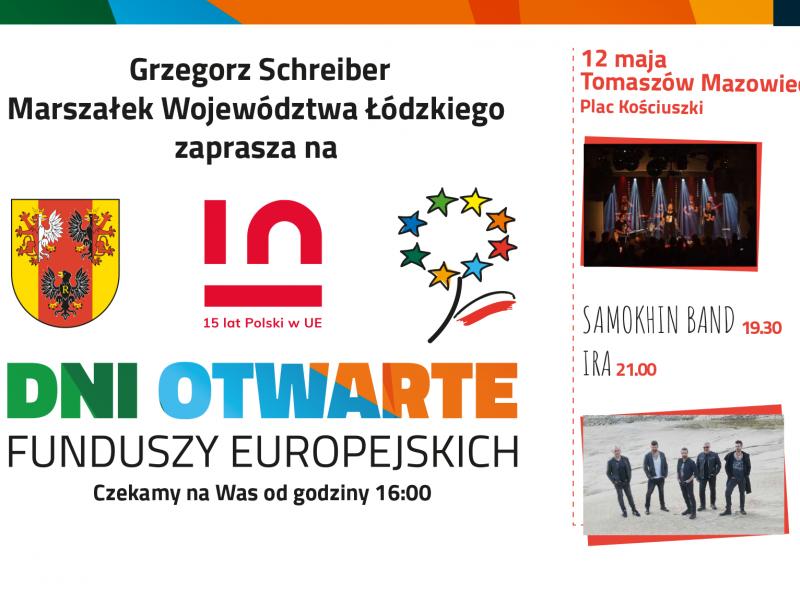 Dni Otwartych Funduszy Europejskich na pl. Kościuszki. Wystąpią Samokhin Band i IRA