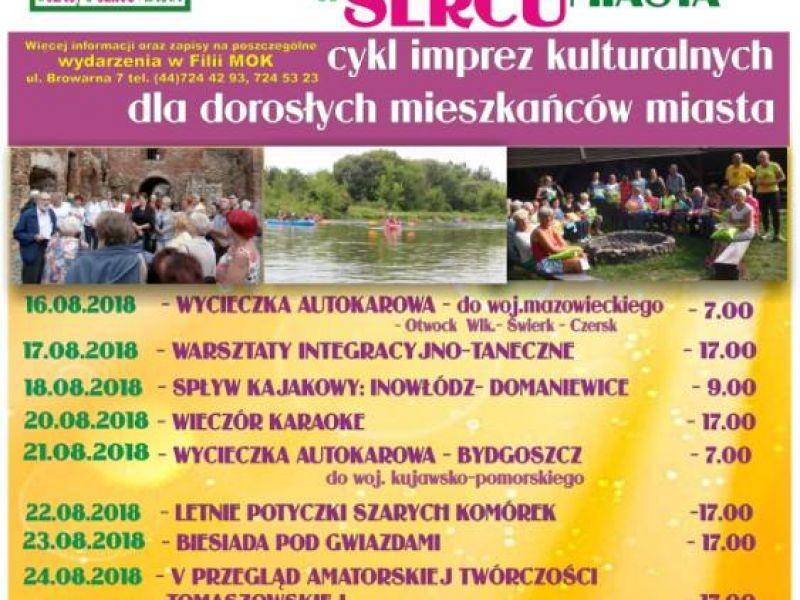 plakat promujący cykl imprez kulturalnych