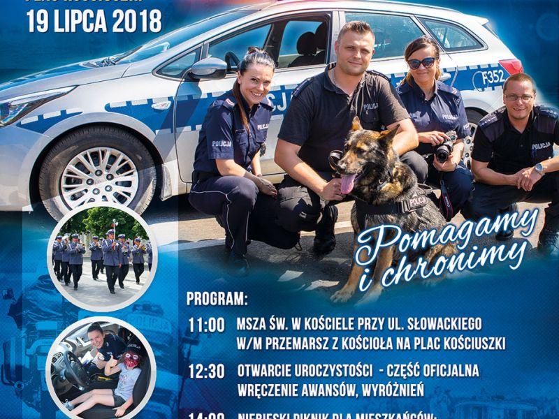 plakat promujący święto policji