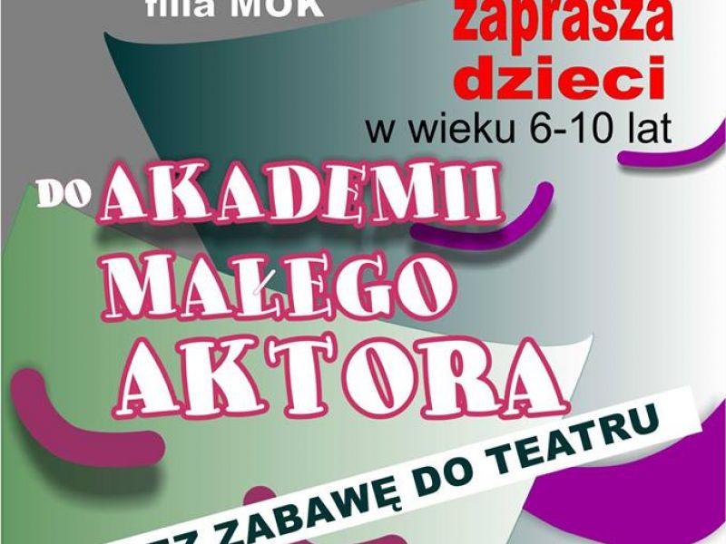 plakat informacyjny, Miejskie Centrum Kultury, MOK,