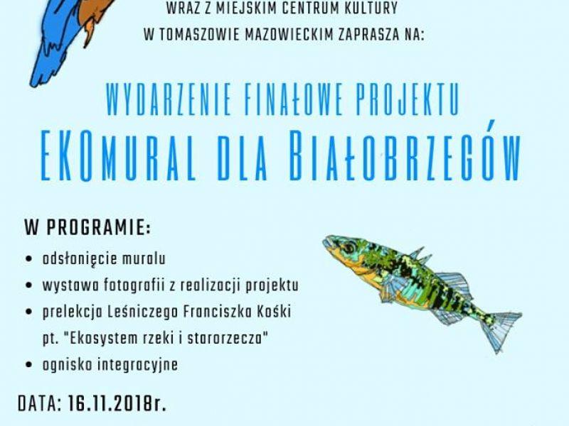 Wydarzenie finałowe projektu EKOmural dla Białobrzegów