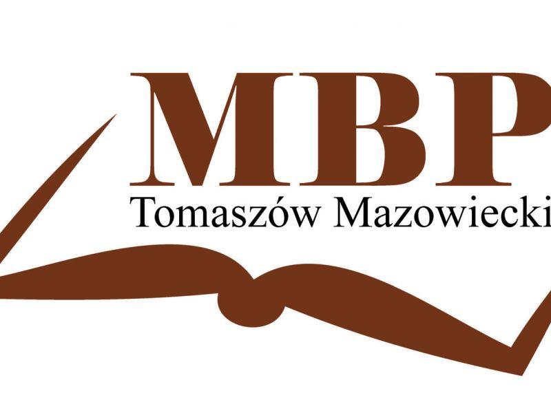 Na zdjęciu logo MBP, zarys książki na białym tle i duże litery MBP
