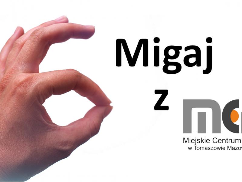 Na zdjęciu baner nauki języka migowego pod hasłem