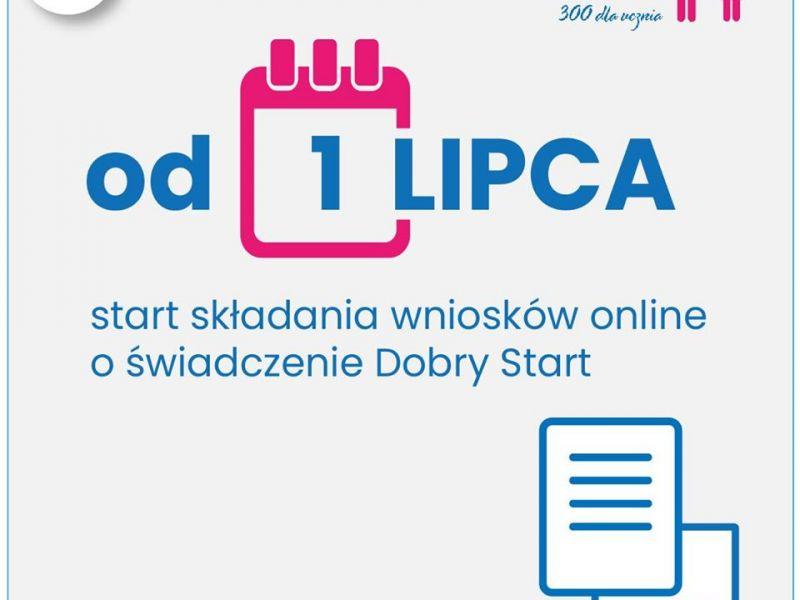 Dobry Start ‒ od 1 lipca rusza nabór wniosków online