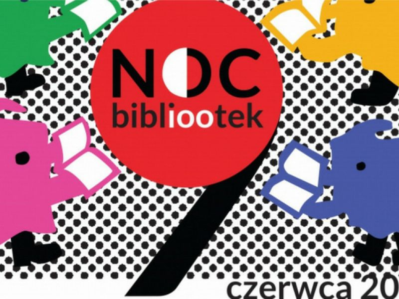 plakat promujący Noc bibliootek