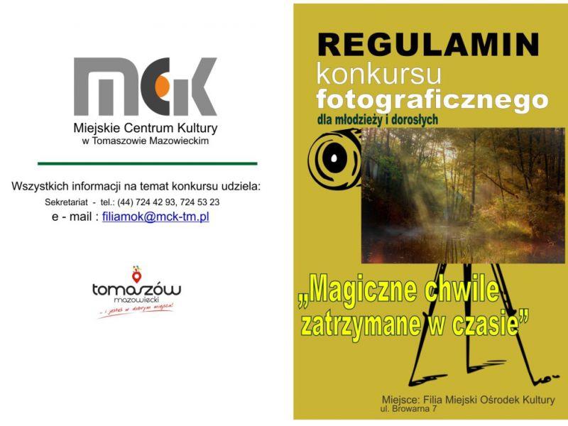 plakat infrormacyjny, konkurs fotograficzny