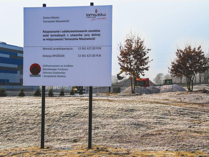 Odwiert geotermalny w Tomaszowie Mazowieckim. Trwają prace przygotowawcze