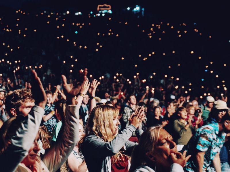 koncert, ludzie, społeczność