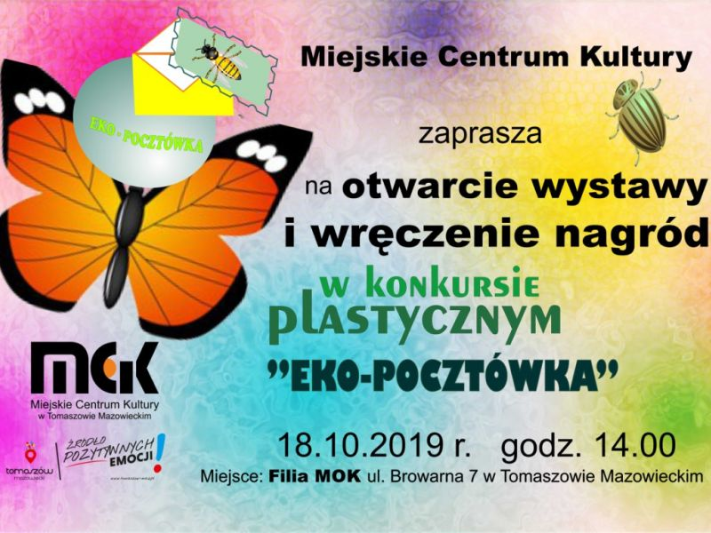 """Zaproszenie na otwarcie wystawy pn. """"Eko-Pocztówka"""""""