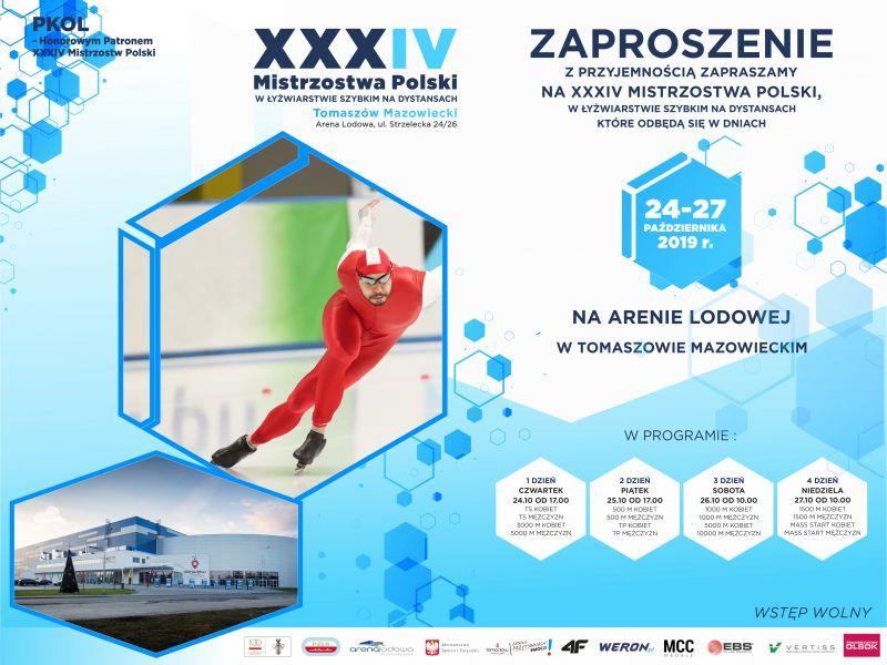 Mistrzostwa Polski w łyżwiarstwie szybkim już w następny weekend