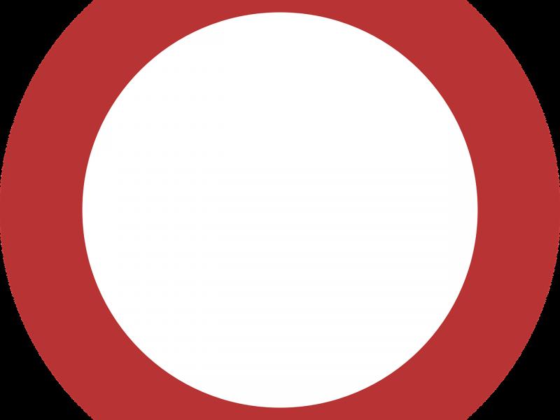Na zdjęciu znak zakazu wjazdu