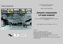 """Otwarcie wystawy w muzeum """"Tomaszów i tomaszowianie w II wojnie światowej"""""""