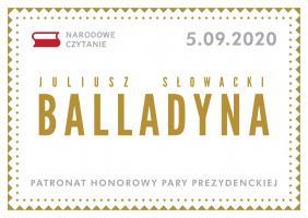 """Narodowe czytanie """"Balladyny"""""""