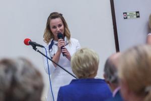 Pierwsza Dama na otwarciu Sali Integracji Sensorycznej w ORDN