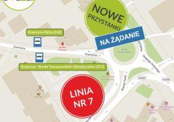 Nowe przystanki MZK  na ulicy Granicznej