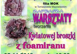 Warsztaty tworzenia kwiatowej broszki z foamiranu