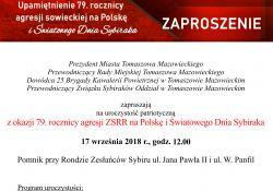 79. rocznica agresji ZSRR na Polskę i Światowy Dzień Sybiraka