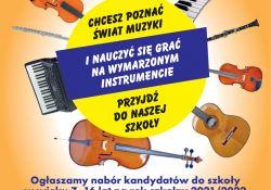 Państwowa Szkoła Muzyczna ogłasza nabór
