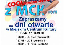 Coolturalne Show z MCK-iem – przyjdź na dni otwarte