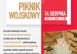 Nowy mural w Tomaszowe i piknik wojskowy