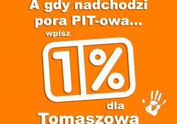 Przekaż 1% podatku na tomaszowskie organizacje pożytku publicznego