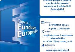 Mobilny Punkt Informacji o Funduszach Europejskich w Tomaszowie