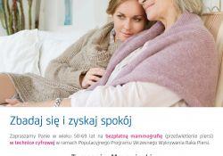 Zbadaj się – bezpłatna mammografia