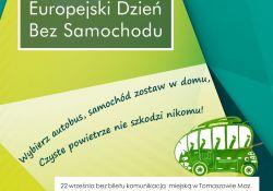 Europejski Dzień bez Samochodu. Bezpłatna komunikacja MZK dla kierowców