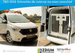 TBO 2018. Schronisko dla zwierząt ma nowy samochód