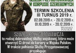Trwa nabór do służby przygotowawczej w korpusie szeregowych
