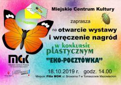 """Zaproszenie na otwarcie wystawy pn.""""Eko-Pocztówka"""""""
