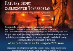 """Ruszyła doroczna Kwesta Cmentarna """"Ratujmy Zabytki Tomaszowskich Cmentarzy"""""""