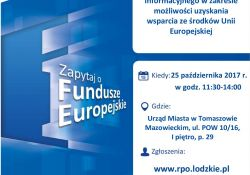 Mobilny Punkt Informacyjny znowu w Tomaszowie